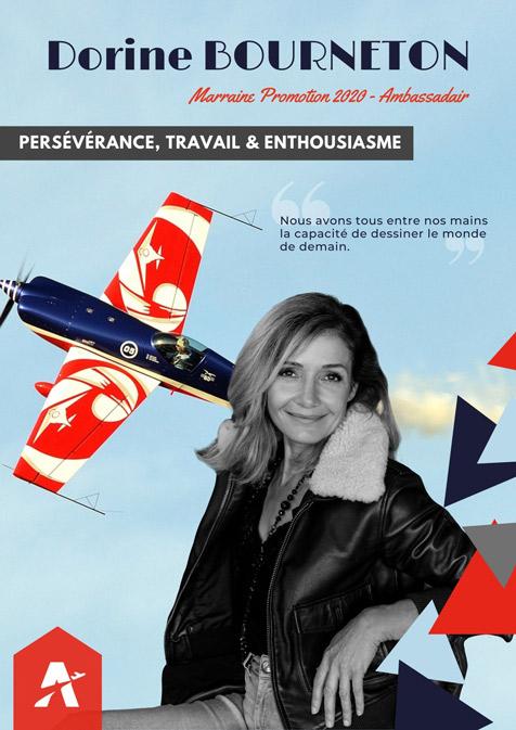 Personnalités aéronautiques - Dorine BOURNETON - Marraine 2020