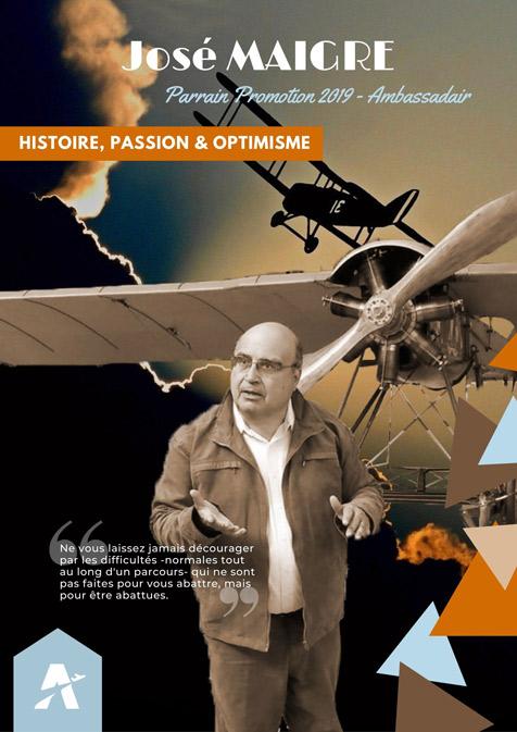 Personnalités aéronautiques - José MAIGRE - Parrain 2019