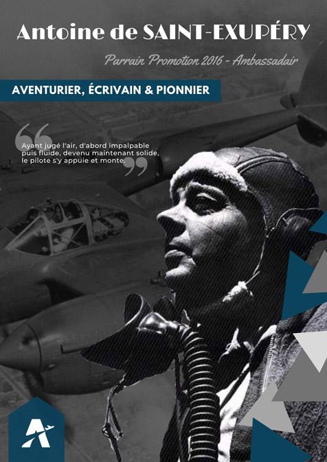 Personnalités aéronautiques - Antoine de Saint-Exupéry - Parrain 2016